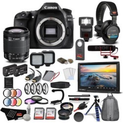 Canon EOS 80D DSLR Camera with Canon EF-S 18-55mm Lens Extreme Video Kit International Model