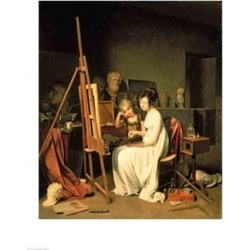 Posterazzi BALBAL47976LARGE Artists Studio Poster Print by Louis-Leopold Boilly - 24 x 36 in. - Large