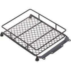 Metal Cargo Carrier Roof Luggage Rack Basket for RC 1/10 Model Car Black