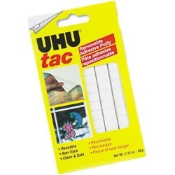 Tac Adhesive Putty, Removable/Reusable, Nontoxic, 2.12 oz/Pack