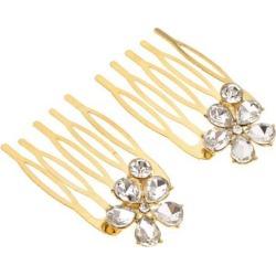 Bridal Hair Comb Rhinestone Flower Hair Combs Wedding Hair Accessory Gold