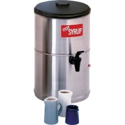 Wilbur Curtis Syrup Warmer 2.0 Gallon Syrup Container - Stainless Steel and Temperature Controls - SW-2 (Each)