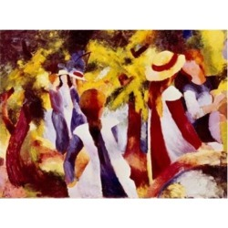Posterazzi SAL900107021 Girls Among Trees August Macke 1887-1914 German Poster Print - 18 x 24 in.