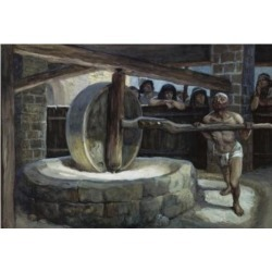 Posterazzi SAL999502 Samson Turns the Mill in Prison James J. Tissot 1836-1902 French Jewish Museum New York USA Poster Print - 18 x 24 in.