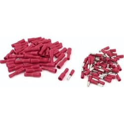 Unique Bargains 50 Pair 22-16 AWG Cable Cord Connecting Male Female Bullet Crimp Terminals Red
