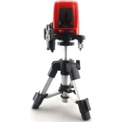 Laser Level with Tripod 17.5-28cm 2 Red Cross Line 360 Degree Self-leveling Laser Meter