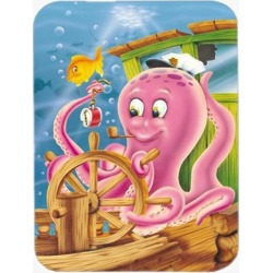 Captain Octopus Glass Cutting Board Large APH0472LCB