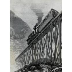 Posterazzi SAL995103251 Cog-Railroad Train Passing Jacobs Ladder Mount Washington Artist Unknown Poster Print - 18 x 24 in.
