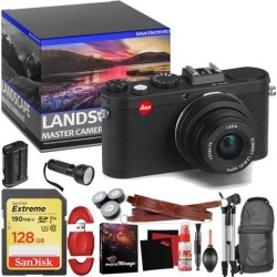 Leica X2 Digital Compact Camera With Elmarit 24mm f/2.8 ASPH Lens (Black) - Master Landscape Photographer Kit - Memory Card - Accessories