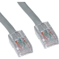 Cable Wholesale Cat 6 Ethernet Patch Cable Bootless 3 Foot - Gray