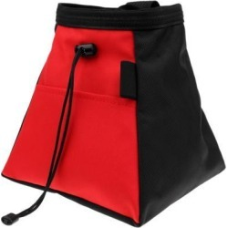 Rock Climbing Bouldering Weightlifting Chalk Storage Bag Bucket Pouch red