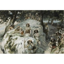 Posterazzi SAL999244 David in the Wilderness of Ziph James Tissot 1836-1902 French Jewish Museum New York USA Poster Print - 18 x 24 in.