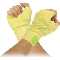 Unique Bargains Unique Bargains 2 Pcs Yellow Cotton Polyester Knuckle Hand Wrap Bandage for Boxing
