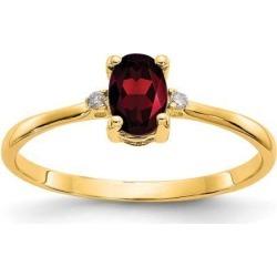 14k Diamond & Garnet Birthstone Ring