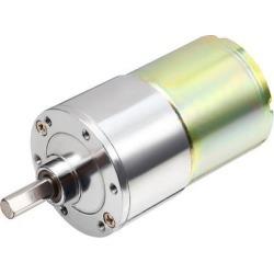DC 24V 30 RPM 6mm Dia Shaft Magnetic Gearbox Electric Motor 37mm Diameter Box