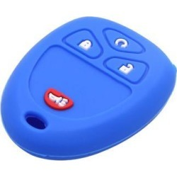 Deep Blue Silicone 4 Button Car Remote Key Cover Holder Case Shell for GMC found on Bargain Bro Philippines from Newegg Business for $6.29
