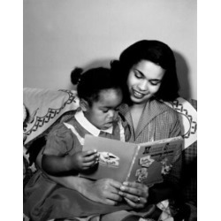 Posterazzi SAL255424293 Mother Reading Book to Young Daughter Poster Print - 18 x 24 in.