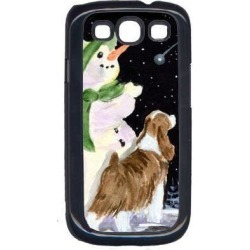 Snowman with English Springer Spaniel Cell Phone Cover GALAXY S111