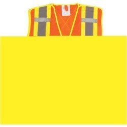 Zenith Safety Products CSA Compliant Surveyor Traffic Safety Vest, 4-Inch Reflective Stripes, Orange, Medium found on Bargain Bro India from Newegg Canada for $18.72