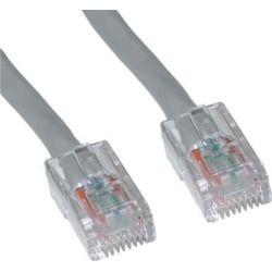 Offex Cat5e Gray Ethernet Patch Cable, Bootless, 20 foot