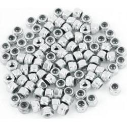 100 Pcs M2.5 Stainless Steel Self-Locking Anti-loose Insertion Hex Nylock Nut