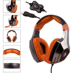 A60 USB 7.1 Surround Sound Stereo Gaming Headset With Mic Stereo Bass