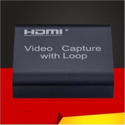 HDMI Capture Card Video Capture 4K 1080P USB 2.0 HDMI Video Capture Card Grabber + Loop Output for Phone PS4 Game Live Streaming