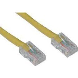 Cable Wholesale Cat 5E Yellow Ethernet Patch Cable, Bootless, 10 Foot