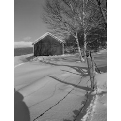 Posterazzi SAL255422791 USA New Hampshire Lancaster Farm in Winter Poster Print - 18 x 24 in.