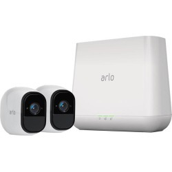 Arlo Pro Security System - 2 x Rechargeable Battery Powered Wire-Free HD Night Vision Indoor / Outdoor Security Camera with Audio and Siren.