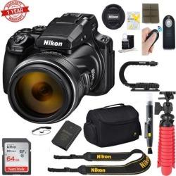 Nikon Coolpix P1000 16MP 125x Super-Zoom Digital Camera + 64GB Accessory Kit