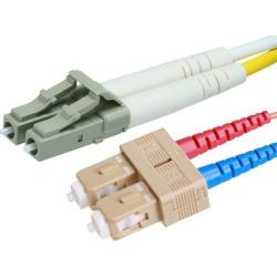 Monoprice Fiber Optic Cable - 20 Meter - Aqua 10Gb, LC/SC, Multi Mode, Duplex (50/125 Type)