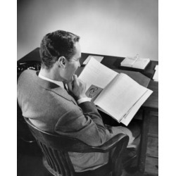 Posterazzi SAL25536152 High Angle View of a Businessman Reading a Book Poster Print - 18 x 24 in.