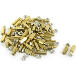 Unique Bargains 50Pcs M3x6mm Male to Female Thread Hex Standoff Spacer 10mm Body Length