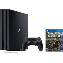 PlayStation 4 Pro 1TB Jet Black 4K HDR Gaming Console Bundle With Days Gone - 2019 New PS4 Game!