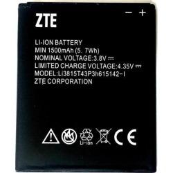ZTE OEM Li-ion Cell Phone Battery 3.8V MIN 1500mAh 5. 7Wh Li3815T43P3h615142-I