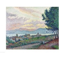 Posterazzi BALXIR9956LARGE St. Tropez Pinewood 1896 Poster Print by Paul Signac - 36 x 24 in. - Large