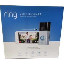 Ring Smart Home Video Doorbell 2 with 1080 HD Wide Angle Resolution