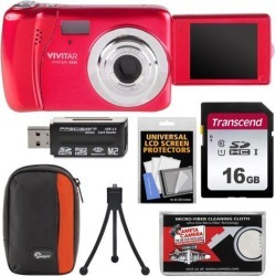 Vivitar ViviCam VXX14 HD Selfie Digital Camera Kit Red