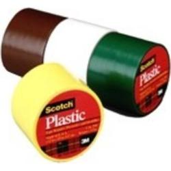 3m 6 Count 1.50in. X 125in. Scotch Black Plastic Tape 191BK - Pack of 6