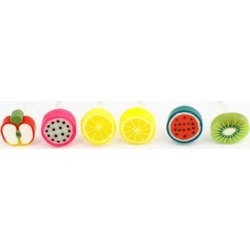 6 Pcs Fruit Decor 3.5mm Dust-proof Earphone Ear Cap for Phone found on Bargain Bro India from Newegg Canada for $7.13