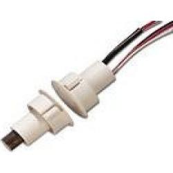 Recessed Steel Door Contact w/ Wire Leads,1-Diameter, DPDT, WHT