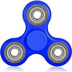 Worryfree Gadgets FIDGET-BLU Fidget Spinner Stress Reducer Focus Toy For Kids & Adults