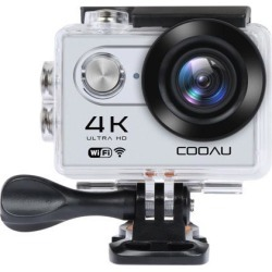 COOAU Ultra HD Action Camera 4K Wi-Fi Sport Camera DV Camcorder, 2.0 Inch LCD Screen, Waterproof 30M for Diving Surfing Swimming Skiing Bike