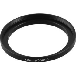 Unique Bargains Camera Lens 49mm to 55mm Step Up Filter Adapter Ring