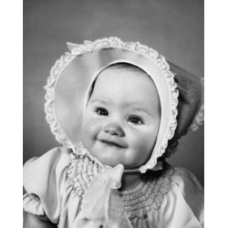 Posterazzi SAL2559509A Close-Up of a Baby Girl Smiling Poster Print - 18 x 24 in.