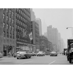 Posterazzi SAL255422592 USA New York City Manhattan Avenue of the Americas Looking South From 49th Street Poster Print - 18 x 24 in.