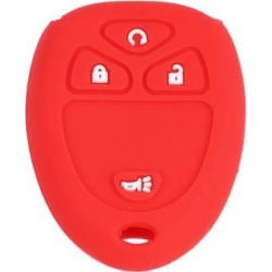Red 4 Button Car Auto Remote Key Case Holder Shell Cover for GMC