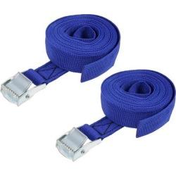 3.5M x 25mm Lashing Strap Cargo Tie Down Straps w Cam Lock Buckle 250Kg Work Load, Blue, 2Pcs
