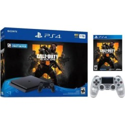 Playstation 4 Slim 1TB Jet Black Call of Duty Black Ops 4 Bundle With an Extra Crystal DualShock 4 Wireless Controller